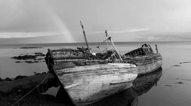 mull-fishing-boats-greyscale